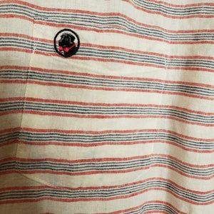 Southern Proper Shirts - Men's Southern Proper Linen Striped Shirt Large